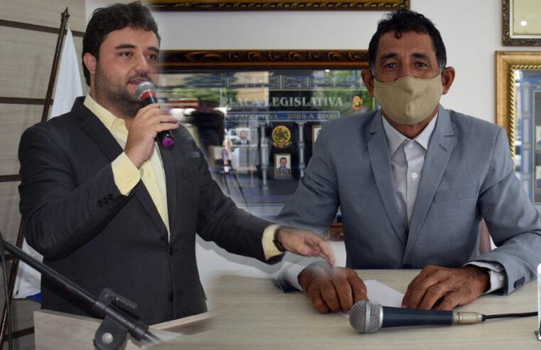 Vereadores Almiro e Werlisson solicitam construção de Quebra Mola no Posto Brasil