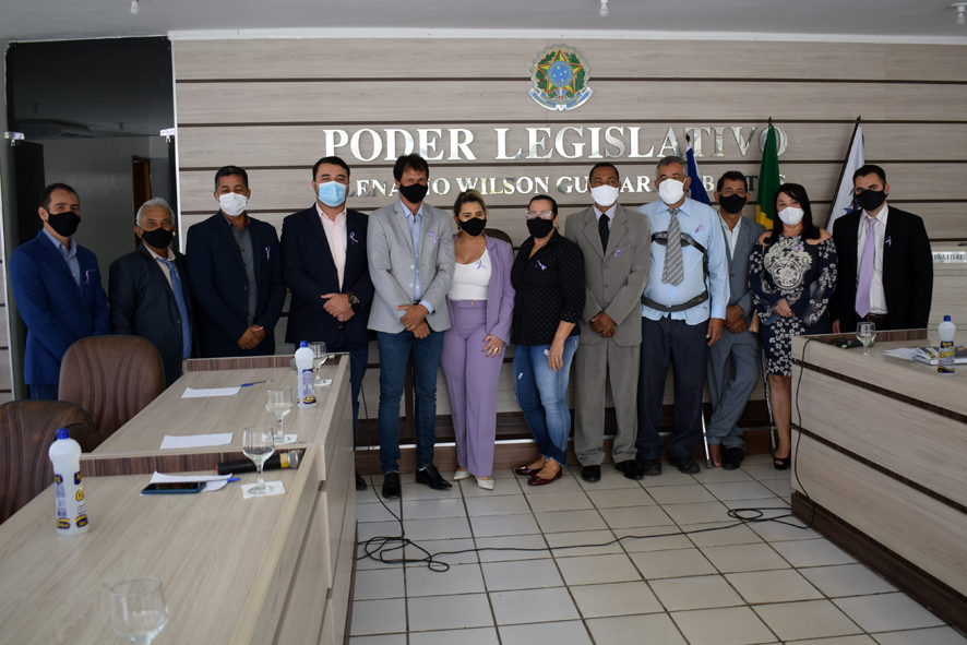 Agosto Lilás: Violência contra mulher foi debatida na sessão da câmara de Baixa Grande